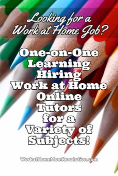 One on One Learning is hiring work at home online tutors for grades 6 to 10 in…
