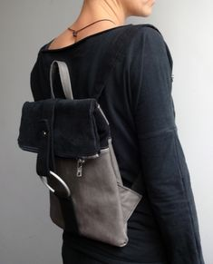 Casual style, minimalistic backpack.