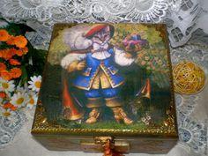 """Купить Деревянная шкатулка """"Кот в сапогах"""" - шкатулка деревянная, шкатулка для рукоделия, подарок на любой случай"""