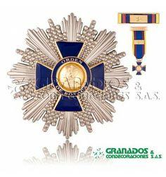 Orden de Boyacá  Gran cruz. Con miniatura y venera