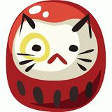 Japanese new year kitty daruma