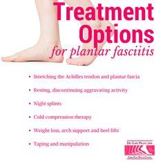 Treatment options for plantar fasciitis