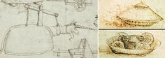 Flying Unicorn and Tank Concept by Leonardo da Vinci...