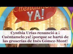 Cynthia Urías renunció a ¡Cuéntamelo ya! ¡porque se hartó de las groserí...