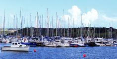 Ireland Landscape Photography: Panorama View of Kinsale's harbor, the sea and the sailboats make this print so romantic!!