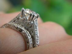 Kirk Kara Engagement Ring Detailed photograph. Stop in to Diana Jewelers to see what we have.