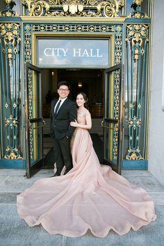 Michael and Sarah's Engagement at San Francisco City Hall // Destination engagement shoot inspiration