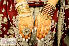The art of Mehdni on a South Asian bride. South Asian Bride, Wedding Places, Mehndi, Wedding Colors, Wedding Photos, Bangles, Weddings, Shots, Jewelry