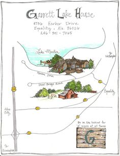 Neat, uncluttered map of coney island   My Illustrated Map ...