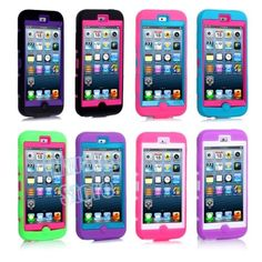 Shockproof Hybrid Impact Hard Back Case Cover for iPod Touch 5 iTouch Gen Ipod Touch Cases, Ipod Cases, Ipod Touch 6th Generation, Ipod 5, Cover, Tech, Electronics, Ebay, Flowers
