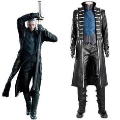 Halloween Devil May Cry Vergil Dante Cosplay Costume Men/'s Outfit Custom C0S