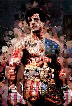 Rocky Abstract Portrait Digital Art by Daniele Volpicelli Rocky Series, Rocky Film, Sylvester Stallone, Chroma Key, Frases Rocky, Rocky Balboa Poster, Rocky Balboa Quotes, Rocky Quotes, Andre Luis