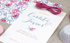 Invitación de boda de Project Party Studio, modelo Pink Peony #bodas #invitaciondebodas #wedding #weddingstationery