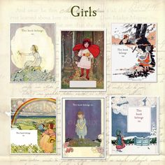Assorted Vintage Little Girls BLANK Bookplates by oiseaux on Etsy, $16.25
