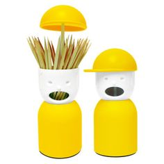 Picky Boy Toothpick Holder Ylw now featured on Fab.