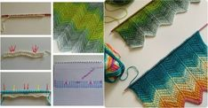 Tunus işi şal yapılışı Baby Knitting Patterns, Knitting Stitches, Crochet Patterns, Tunisian Crochet, Crochet Bikini, Shawl, Projects To Try, Crafts, Mavis