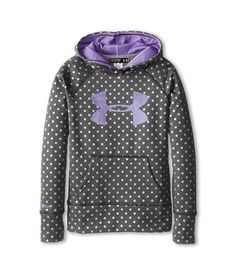 Polka dot printed hoodie from Under Armour Kids. #girls #clothing