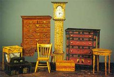 """James Hastrich ~ Maker of American Painted Furniture in 1"""" and 2"""" scale"""