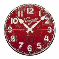 1000 Images About Red Kitchen Wall Clocks On Pinterest