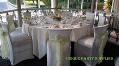 Sage green organza sashes and ivory lace sashes