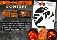 Download our #BuckOLantern #stencil, carve your #pumpkin, then submit your photo for a chance to #WIN!  http://buckolantern.pgtb.me/1mNkJR