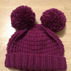 Alexis Hat with Bobble for Adults and Children Knitting pattern by Julie Taylor Free Knitting Patterns Uk, Julie Taylor, Aran Weight Yarn, Bobble Hats, Easy Stitch, Enabling, Baby Knitting, Granite, Super Easy