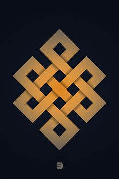 Endless Knot, one of eight auspicious symbols in Buddhism.