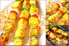 Paneer tikka in oven - Raks Kitchen Tandoori Masala, Chaat Masala, Indian Snacks, Indian Food Recipes, Ethnic Recipes, Recipes Using Sour Cream, Holi Recipes, Tikka Recipe, How To Make Paneer