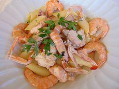 """AbruzzoIN….cucina: nuova ricetta della Prof. Antonella Petrella. """"Penne ai cinque mari"""""""