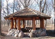 This gazebo fits right into the surroundings!