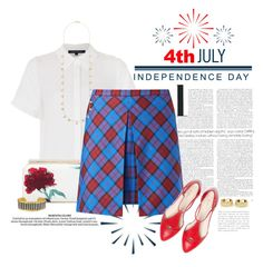 """""""Happy 4th of July (6)"""" by dawn-scott ❤ liked on Polyvore featuring Radcliffe, French Connection, Oscar de la Renta, New Look, Ippolita, Tiffany & Co. and Évocateur"""