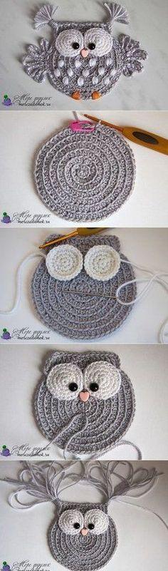 Baby Knitting Patterns 5 ungelesene Chats knitting and crochet Baby Knitting Patterns 5 ungelesene Chats (NewBorn Baby Stuff) Crochet Owl Applique, Crochet Motif, Crochet Flowers, Crochet Baby, Crochet Toys, Crochet Shawl, Blanket Crochet, Double Crochet, Crochet Birds