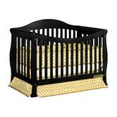 Found it at Wayfair - Athena Allie 3-in-1 Convertible Crib  Pretty shape, maybe a lighter finish