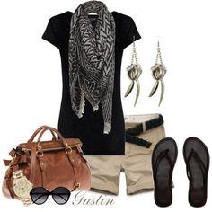 Spring Outfit-Black & Khaki