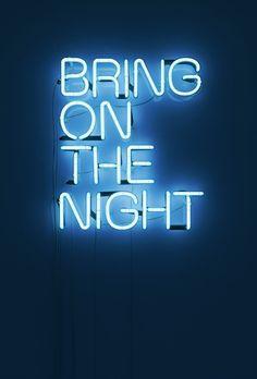 Neon light typography