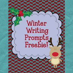 I like to have seasonal writing prompts for my fast-finishers. My students glue the prompt into their writing journals and then write their responses during free time. They also work great for centers!  I've included: -7 writing prompts for your writing center in both color and black/white  This freebie is part of my larger Winter Wonderland Unit for Big Kids.