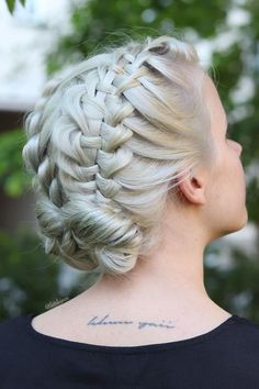 Ladder Braid Updo Hairstyle ❤  #lovehairstyles #hair #hairstyles #haircuts