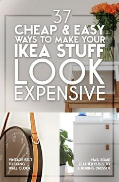 37 Cheap And Easy Ways To Make Your Ikea Stuff Look Expensive! There are a lot of ways you can transform you Ikea purchases and add a little something that will make them look more expensive. Furniture Makeover, Diy Furniture, Furniture Removal, Furniture Stores, Furniture Online, Luxury Furniture, Ideias Diy, Home And Deco, Home Hacks