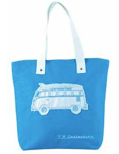 Tote Bag-Blue Bus