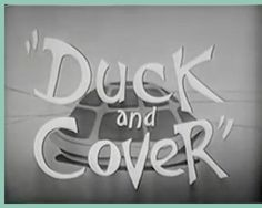 "Free Video for students illustrating ""Duck and Cover"" during the Cold War."