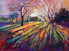 "Limited Edition Print - Famous ""Crystal Light"" oil painting by American expressionism artist Erin Hanson"