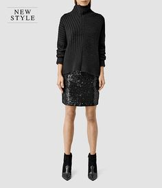 AllSaints Partywear For Her: Aliva Embellished Skirt