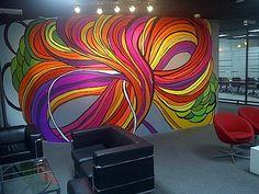 'Primeworks Studios' Infinite Plan'. Commissioned by Primeworks Studios Malaysia. 2012, mural paint