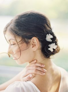 "flower hair pins hushed commotion side.jpg  ""anna bobby pins"" by hushed commotion"