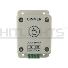HitLights Led Light Strip Touch Dimmer  Single Color Wallmount  5 to 24V DC 8A Max Style Touch Activated 8A Dimmer Model LS_DIMMER8ATOUCH ** Read more reviews of the product by visiting the link on the image.