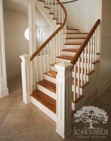 """Деревянные лестницы - примеры наших работ, фотографии, описание - компания """"Лескванта"""""""