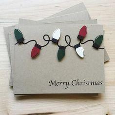 Christmas Lights Holiday Card Set | Set of 8 Christmas Cards