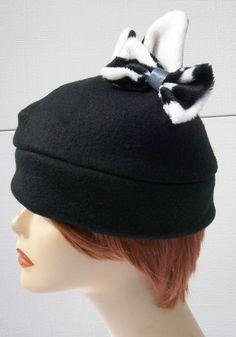 Neko Kitty hat. Beanie with Black and White by AnimeHatmania 0d1ae1ff2b