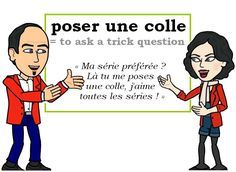 L'expression du jour : « poser une colle » [poze yn kɔl] ❓❓❓ #FLE #Francais #Expressionoftheday #learnfrenchLes Machin (@Les_Machin) | Twitter