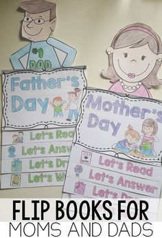 Mother's Day and Father's Day flip book- reading and comprehension activities interactive format